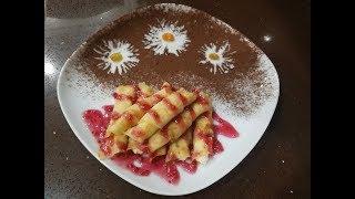 Десерт из тонких блинов - ПАЛЬЧИКИ ОБЛИЖЕШЬ ! Блины с творогом запеченные в духовке.