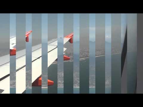 Costa Brava Catalonia view from aircraft Full HD (1080i)