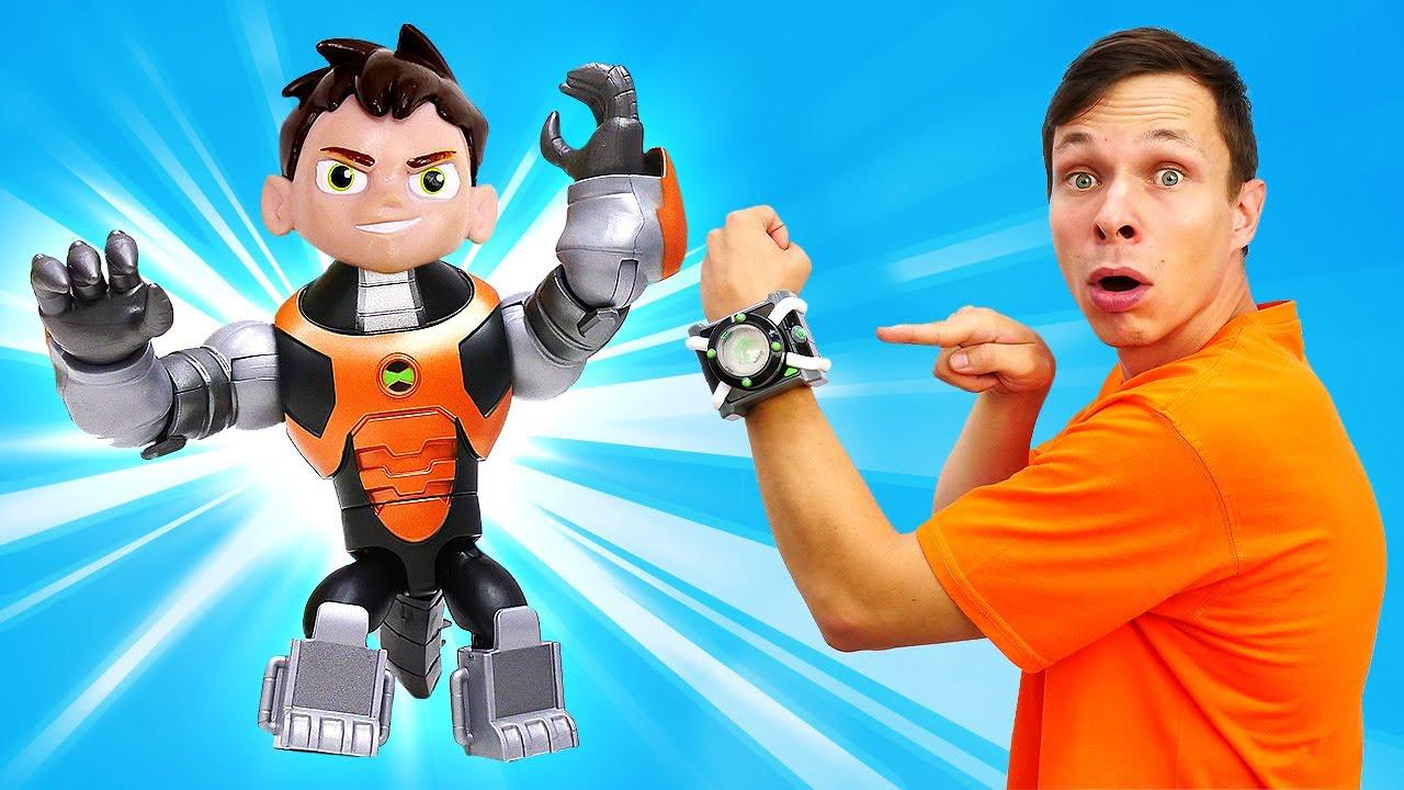 Кевин превратился в Башмауса! Новые крутые игрушки Бен10 - Приключения и игры Ben10 для мальчиков