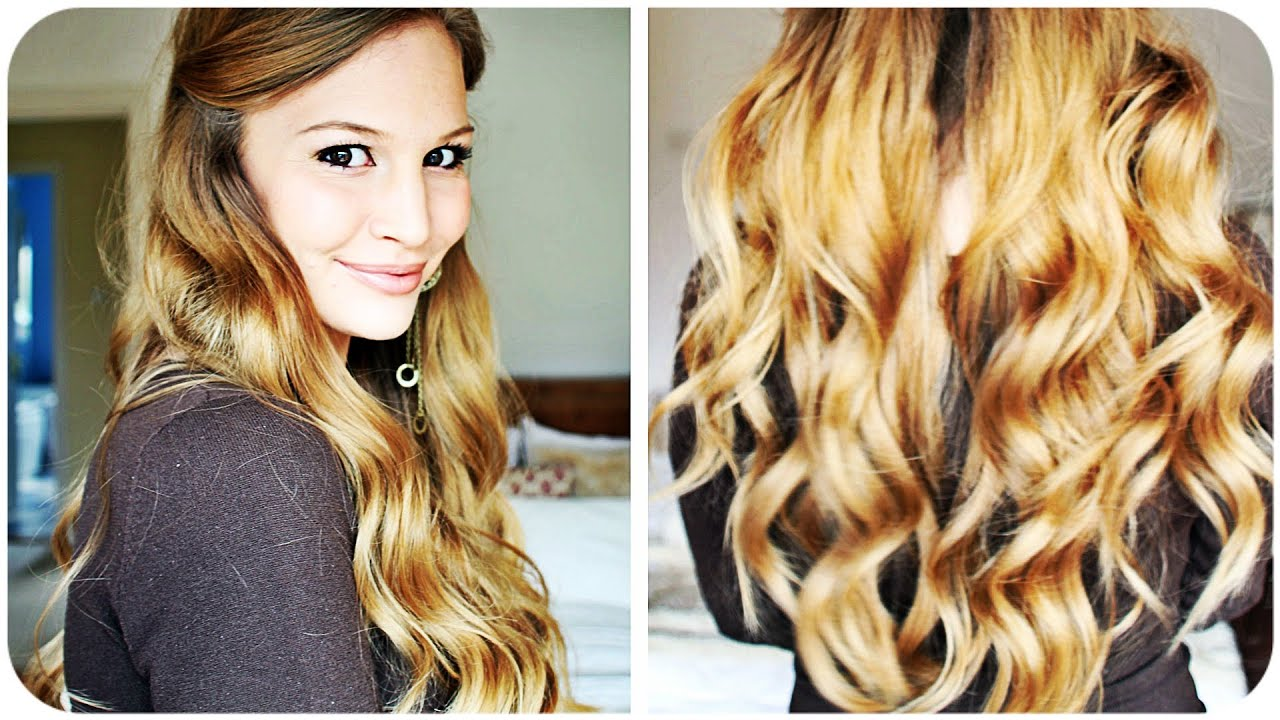 Princess wavy hair tutorial youtube urmus Gallery