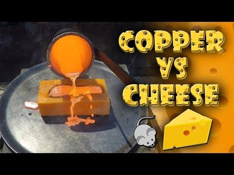 Molten Copper vs Cheddar Cheese