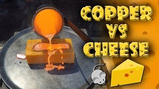 Molten Copper vs Cheddar Cheese