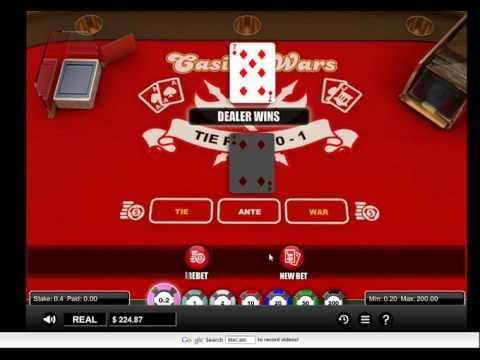 online casino wars