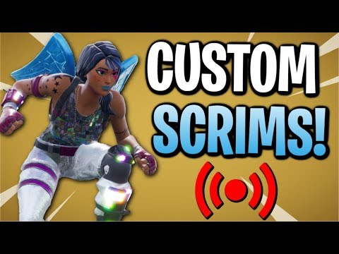 🔴 Fortnite: Custom Scrims With Subs! 🔴 // All Platforms | Family-Friendly | !customs
