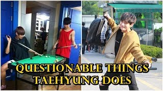 Questionable things Taehyung (태형 BTS) does