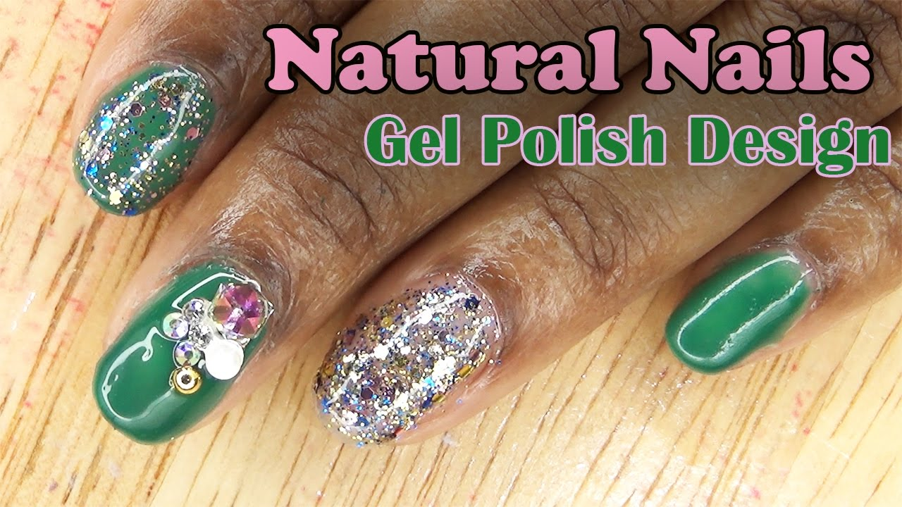 Natural Nails Gel Polish Design | LongHairPrettyNails - YouTube