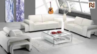 Modern White Leather Living Room Furniture Vgyia32
