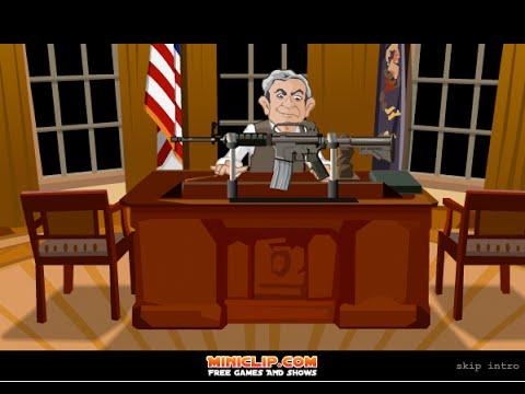 """President"" Bush Shoot-Out & Royal Rampage (Flash Games) - Full Games HD Walkthrough - No Commentary"