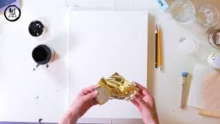 Онлайн урок   'Интерьерная картина с поталью'