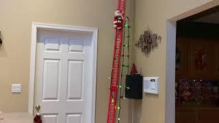 16 Foot Ladder Mr. Christmas Super Duper Musical Climbing Walking Santa Hanging Christmas Lights