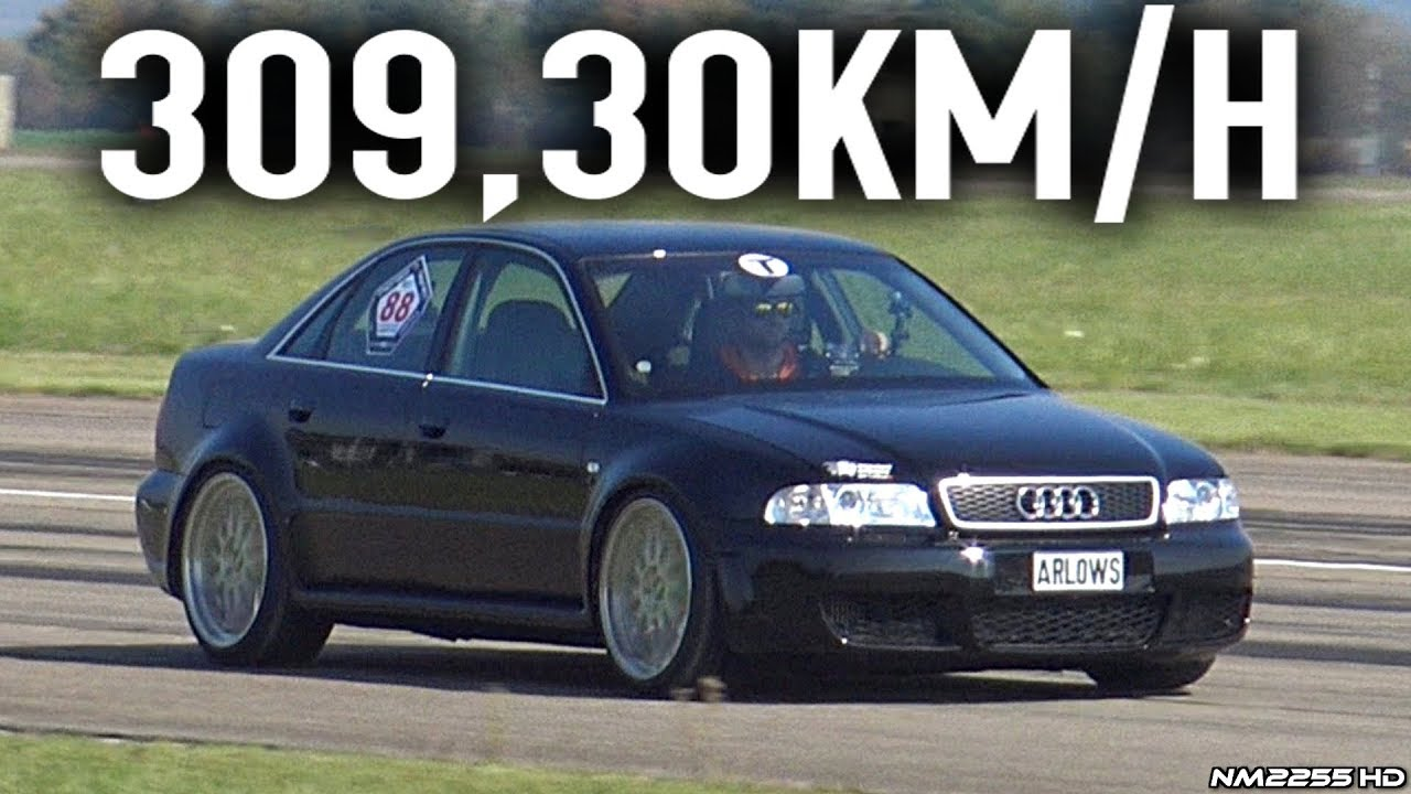 1100hp audi s4 b5 v6 bi turbo hits 309km h in a 1km sprint youtube. Black Bedroom Furniture Sets. Home Design Ideas