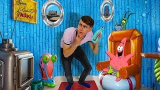 VERHUIZEN NAAR BIKINI BROEK VAN SPONGEBOB SQUAREPANTS! (Slaapkamer Spongebob Transformatie DIY!)