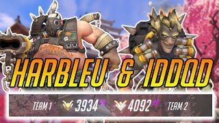HARBLEU & IDDQD IN LOW SR MATCH - Overwatch