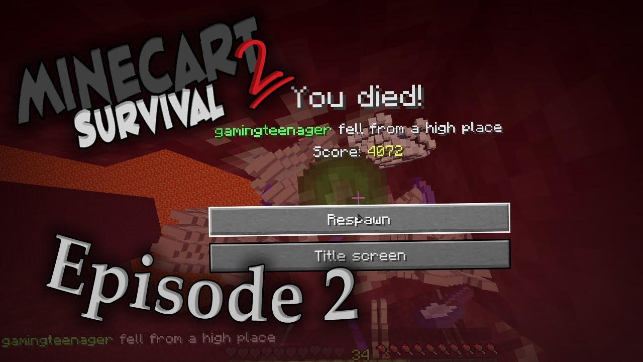 "Minecart Survival Seizoen 2 - EP2 - ""We Need To Go Deeper"""