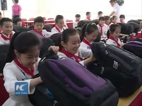 School supplies donated to blast-affected children in Tianjin