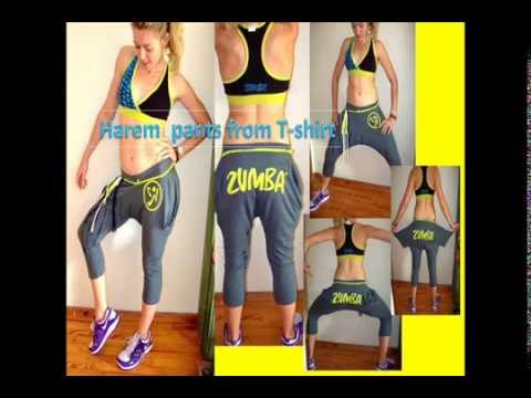 harem pants from zumba t shirt youtube. Black Bedroom Furniture Sets. Home Design Ideas