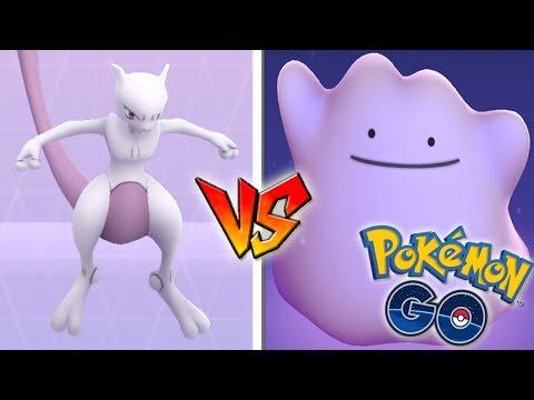 QUÉ PASA si USO DITTO CONTRA MEWTWO en Pokémon GO! Legendario de INCURSIÓN EX! [Keibron]