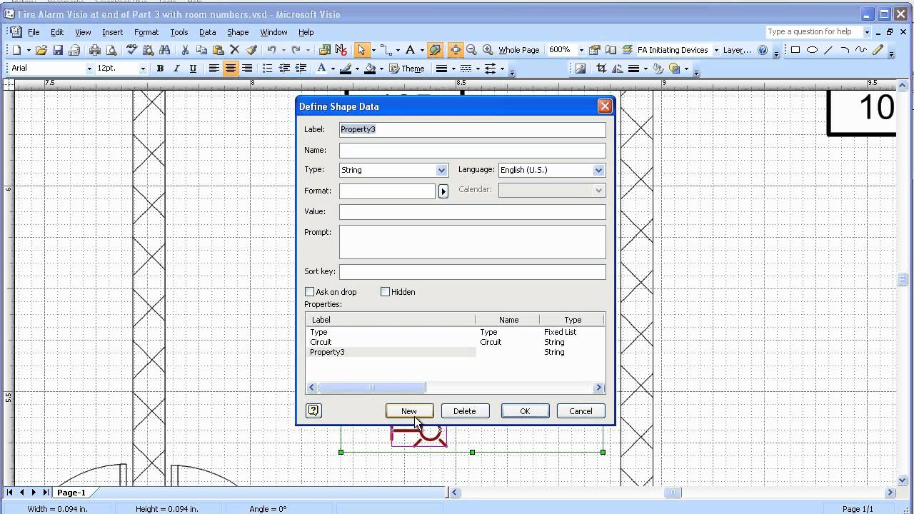 visio 20032007 electrical systems drawing part 4 create data fields - Microsoft Visio Electrical