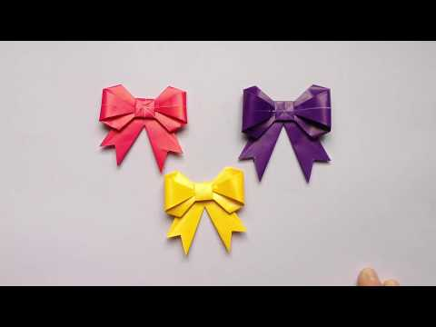 How to make a paper Bow - Origami