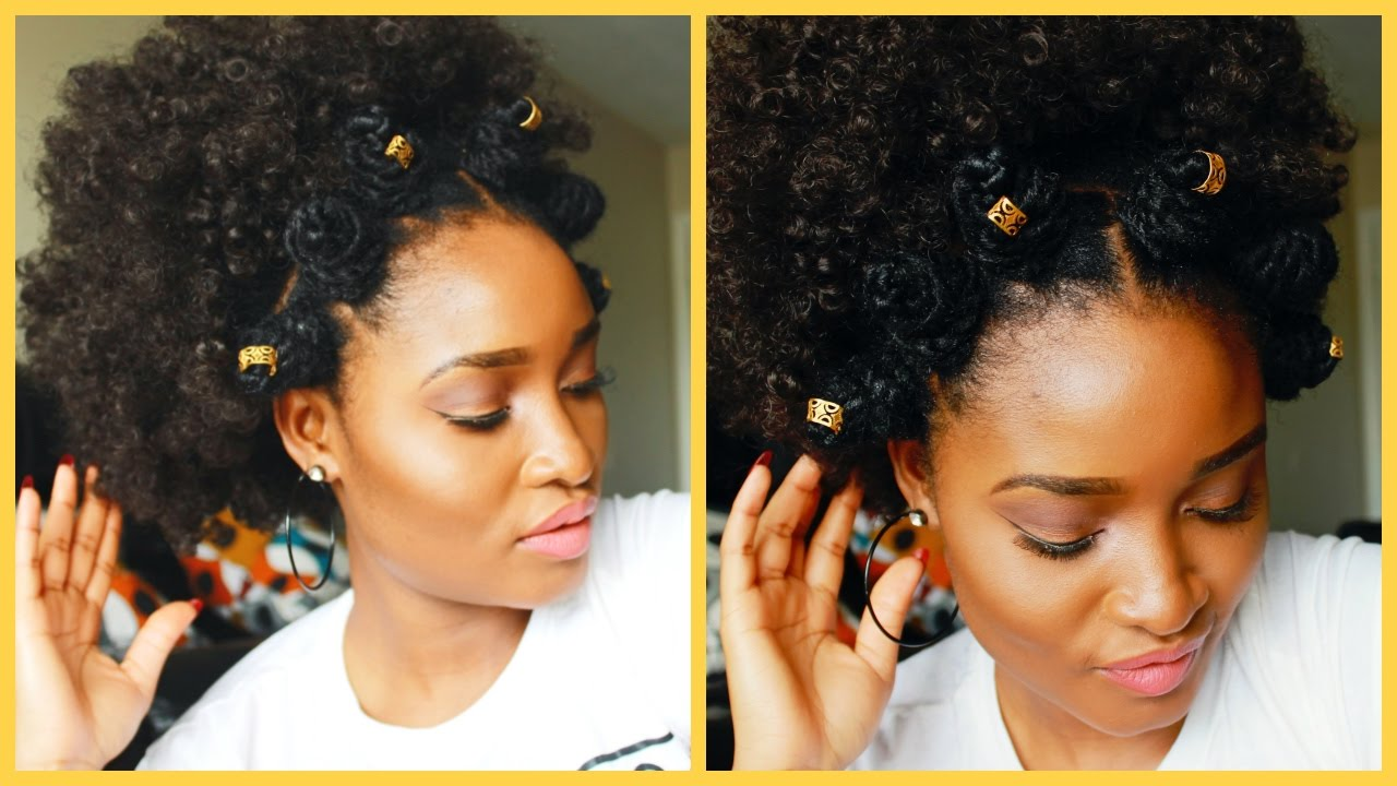 how to | bantu knots hairstyle | summer hairstyles for natural 4c hair
