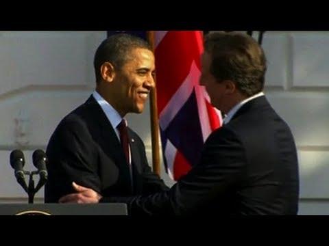 Obama & Cameron Joke About Shared US/UK History