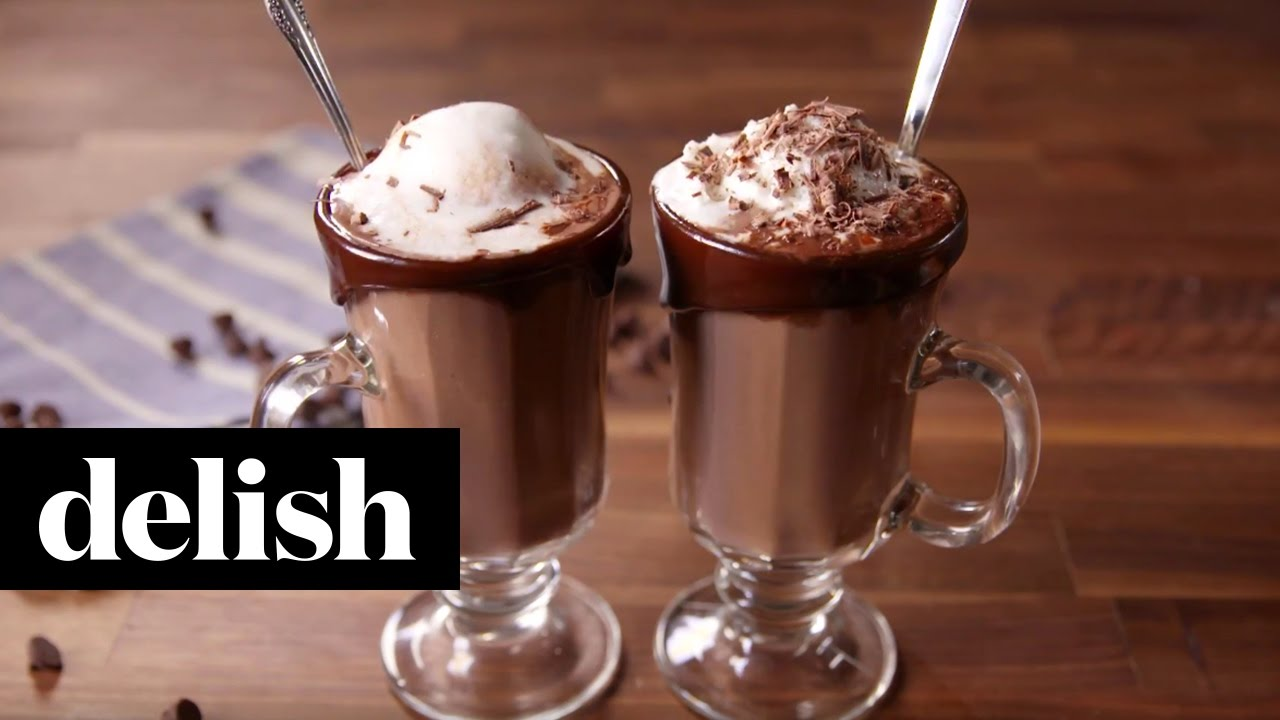 Hot chocolate float delish youtube ccuart Image collections