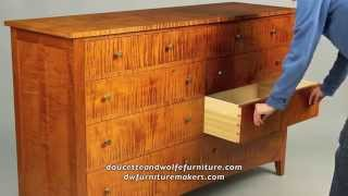 Custom Double Chest of Drawers building process by Doucette and Wolfe Furniture Makers