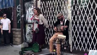 Folk/Swing Buskers Kensington Market Toronto