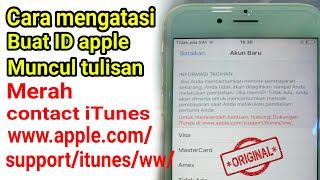 Mengatasi masalah ID apple hubungi dukungan www.apple.com/support/itunes/ww/