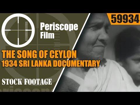 THE SONG OF CEYLON  / 1934 SRI LANKA DOCUMENTARY BY JOHN GRIERSON  59934