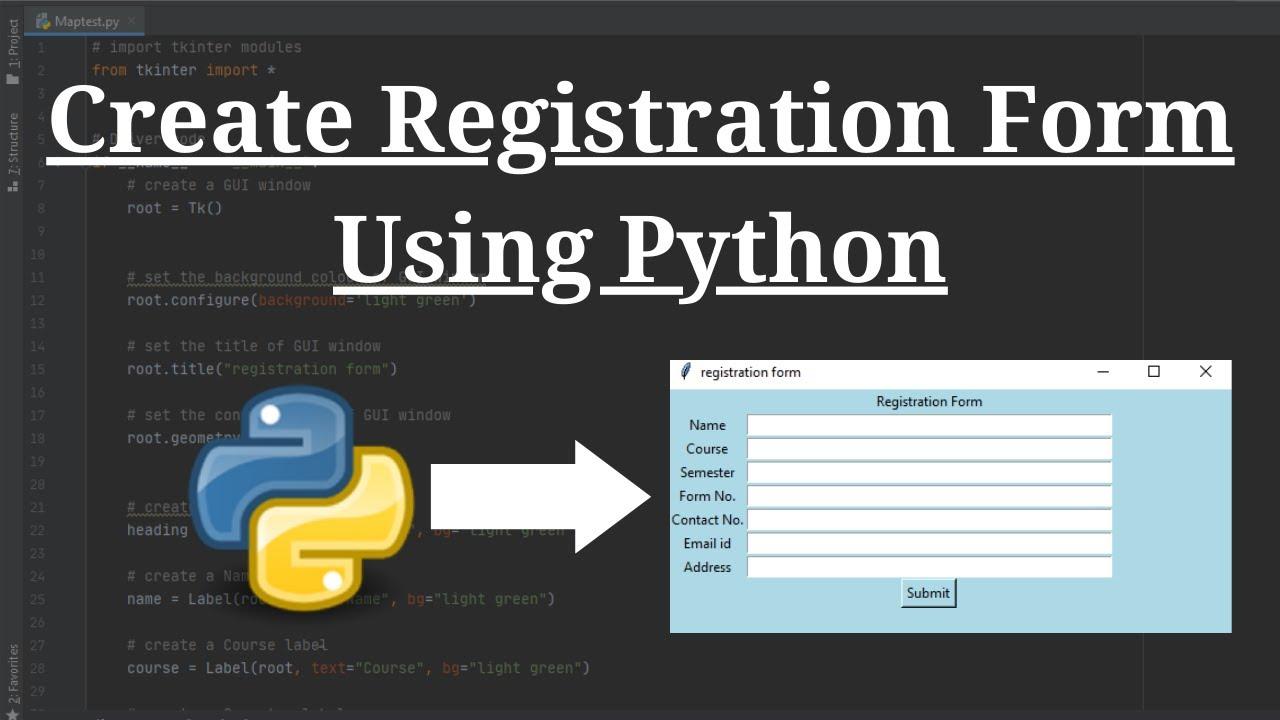 Create Registration Form / Login Form Using Python