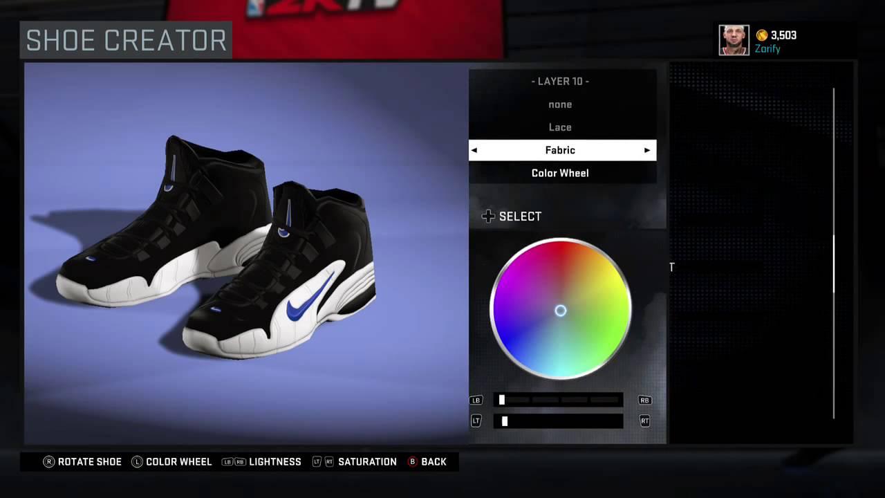 NBA 2K16 Shoe Creator - Nike Penny 1