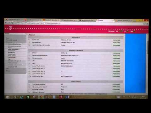 Router HUAWEI B593 LTE Menu konfiguracyjne