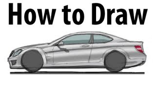How to draw a Mercedes Benz C63 AMG - Sketch it quick!