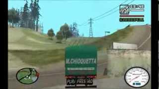 Scania 112hw, Chevrolet D-60 Cavalo Mecânico, Graneleira Verde e Carreta Caçamba GTA San Andreas