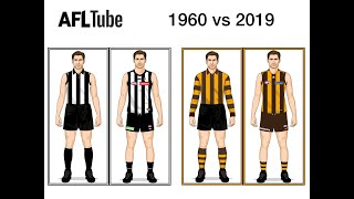1960 vs 2019 | VFL/AFL Jumpers + Port Adelaide & Lions | AFL Jumpers