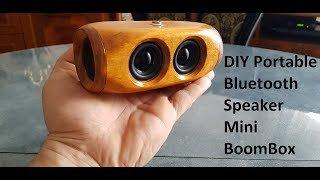 DIY Portable Bluetooth Speaker 2x5w Mini BOOMBOX (Mega BASS)
