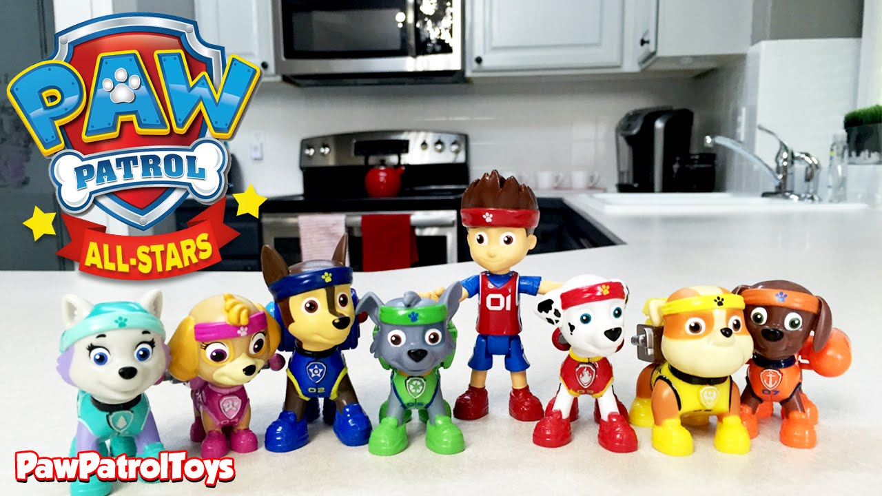 8c6cb83b66f7 PAW PATROL ALL-STAR PUPS with Paw Patrol Action Packs + Rubble ...