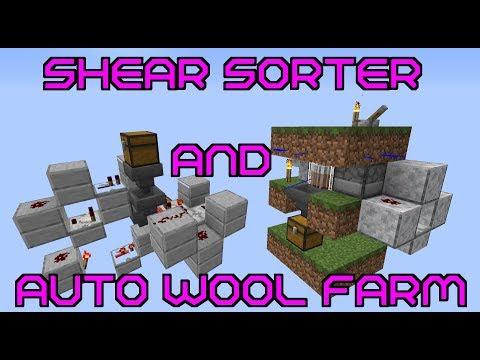 Simple Auto Wool Farm And Shear Sorter | Minecraft [STILL Works]