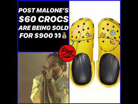 They selling post Malone crocs from $60 to $900 Mp3