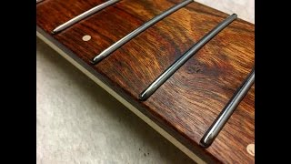 An Easy Way To Make Rounded Hemispherical Fret Ends For A Guitar