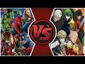 AVENGERS vs ONE PUNCH MAN TOTAL WAR! (Avengers: Endgame vs Saitama) | Cartoon Fight Club Episode 313