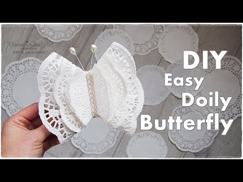 DIY Doily Butterfly Easy Budget Ornaments ♡ Maremi's Small Art ♡