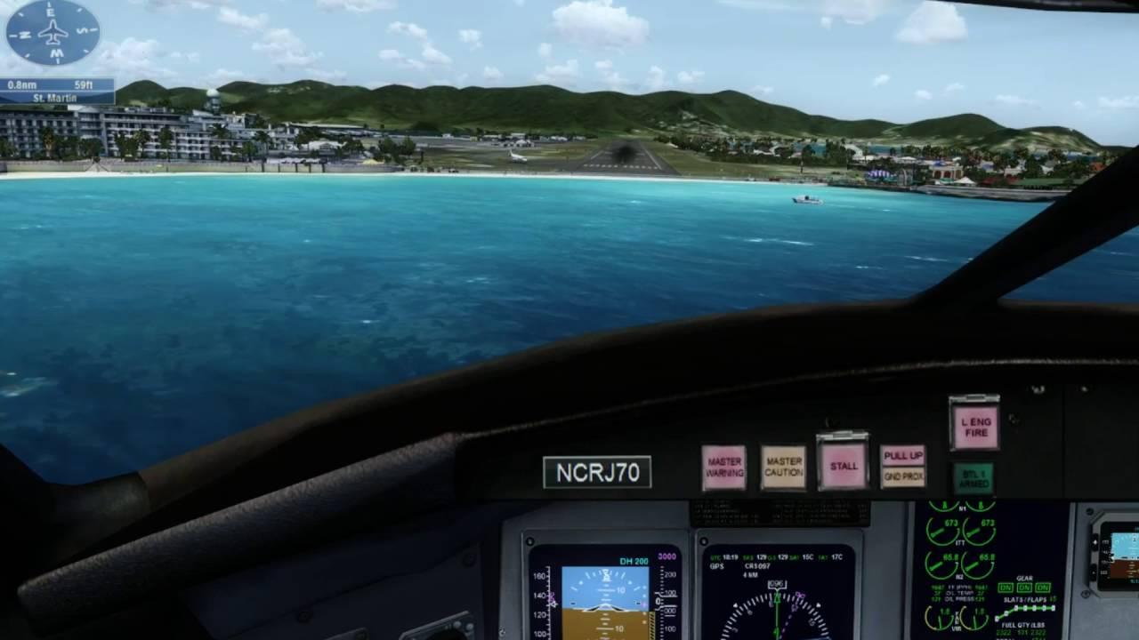 FSX Steam - Max GRAPHICS Settings at St  Maarten