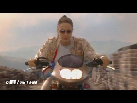 Bike Stunt Scene | Angelina Jolie, Gerard Butler | Lara Croft Tomb Raider: The Cradle of Life (2003)