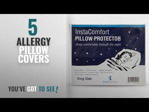 Top 10 Allergy Pillow Covers [2018 ]: Allergy Pillow Covers – InstaComfort Super Soft 100% Cotton