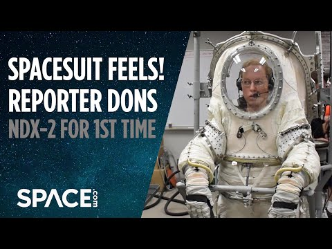Spacesuit Feels! Reporter Dons NDX-2 For 1st Time
