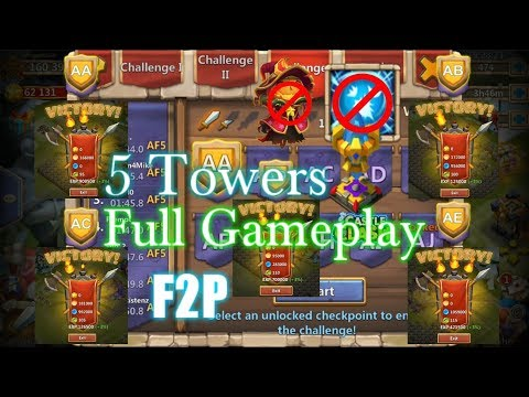 Castle Clash HBM 3( AA- AE ) Full Gameplay_ With Only 5 Towers_ Heroes Power_ Without Scatter