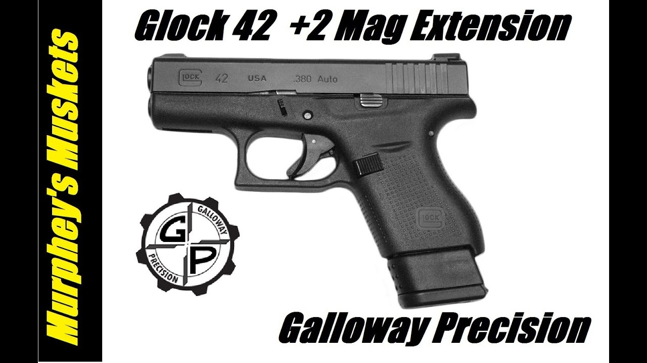 Glock 42 + 2 Mag Extension T&E