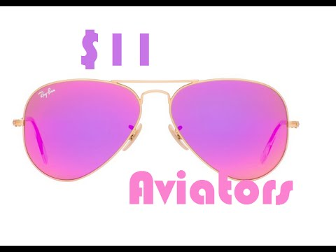 Aliexpress Unboxing: $11 gold Ray-ban red mirror aviator sunglasses unboxing